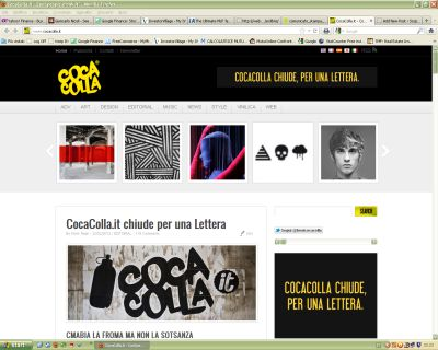 Coca Colla home page.